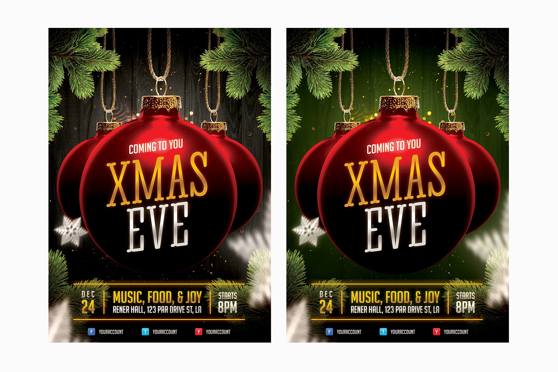 Christmas Event Flyer Template example image 3