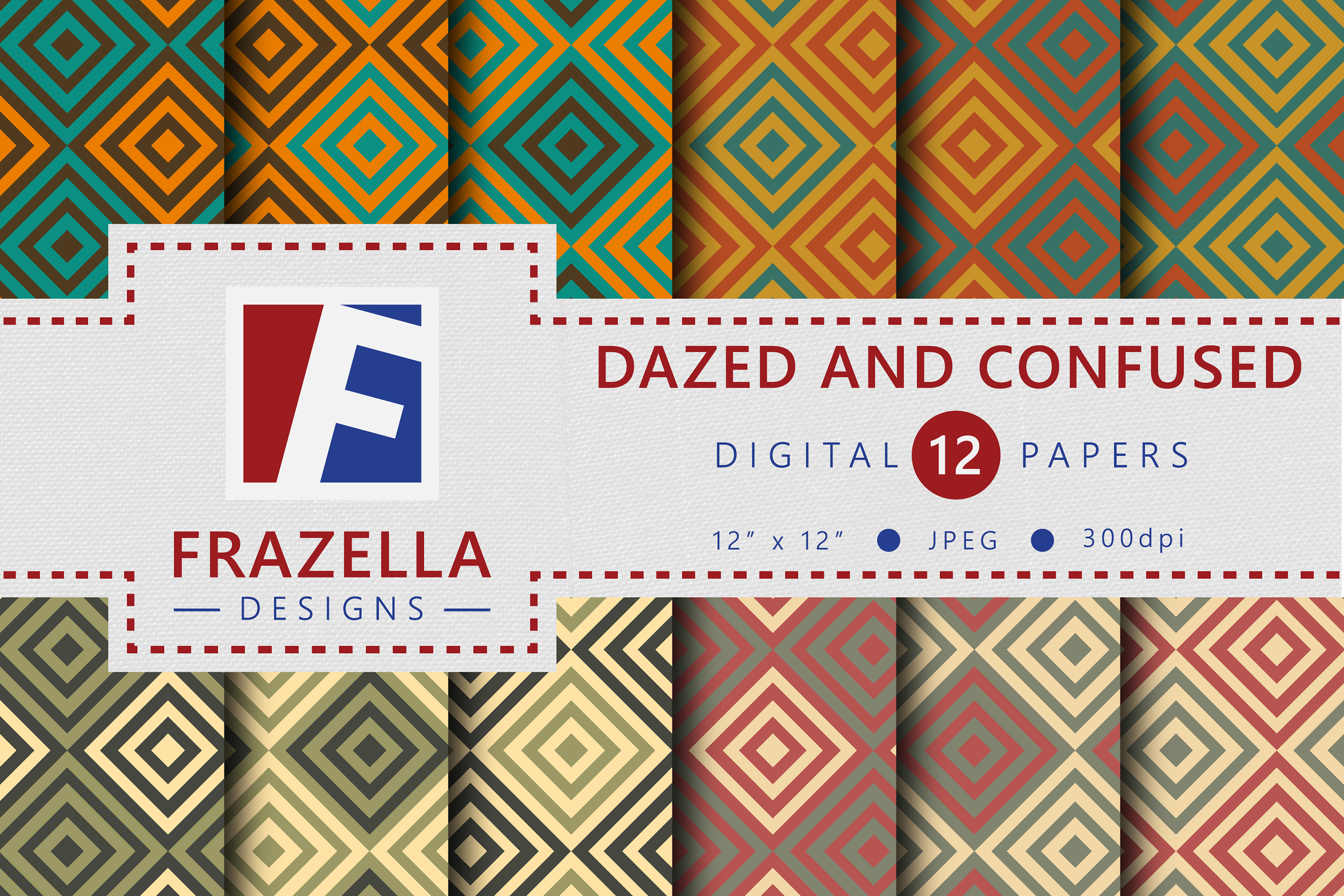 The ULTIMATE Digital Paper Collection Retro Edition Vol. 3. example image 5