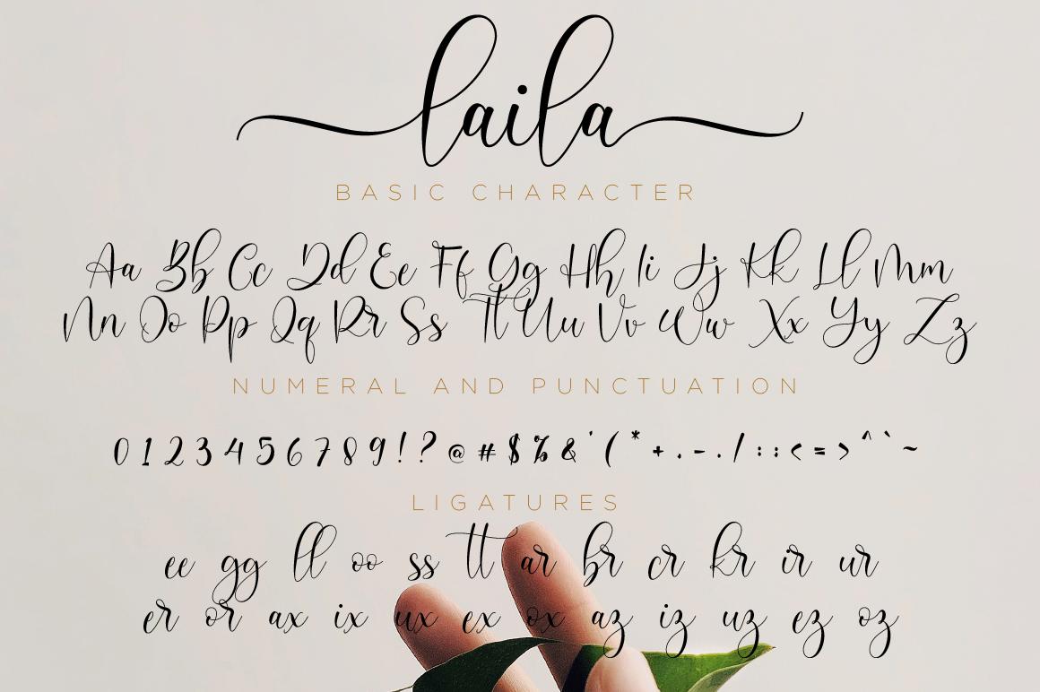 Laila Script example image 11