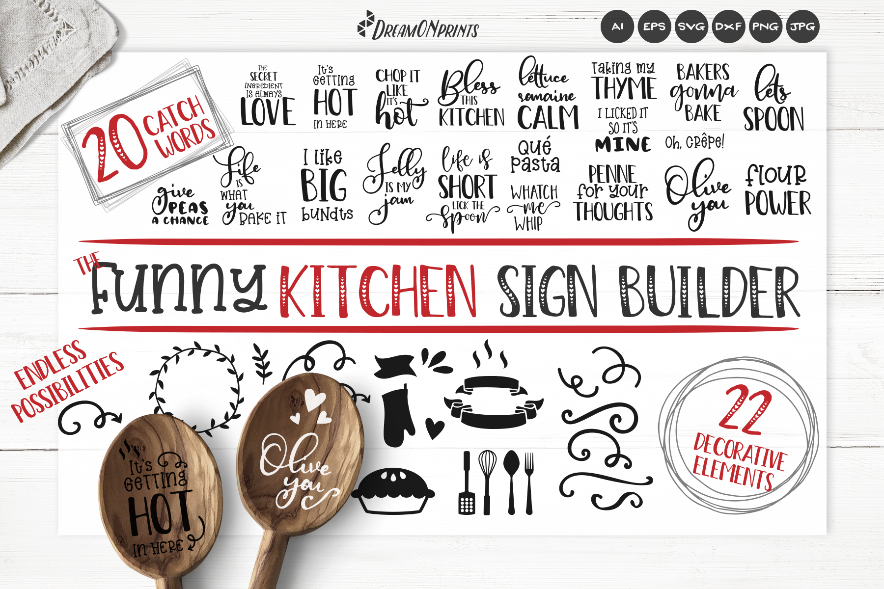 Kitchen SVG Bundle | Funny Kitchen Sign Builder example image 1