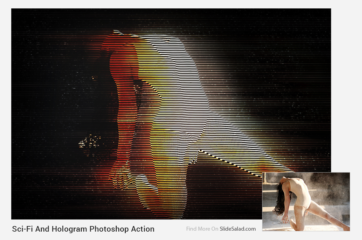 Sci-Fi And Hologram Photoshop Action example image 16