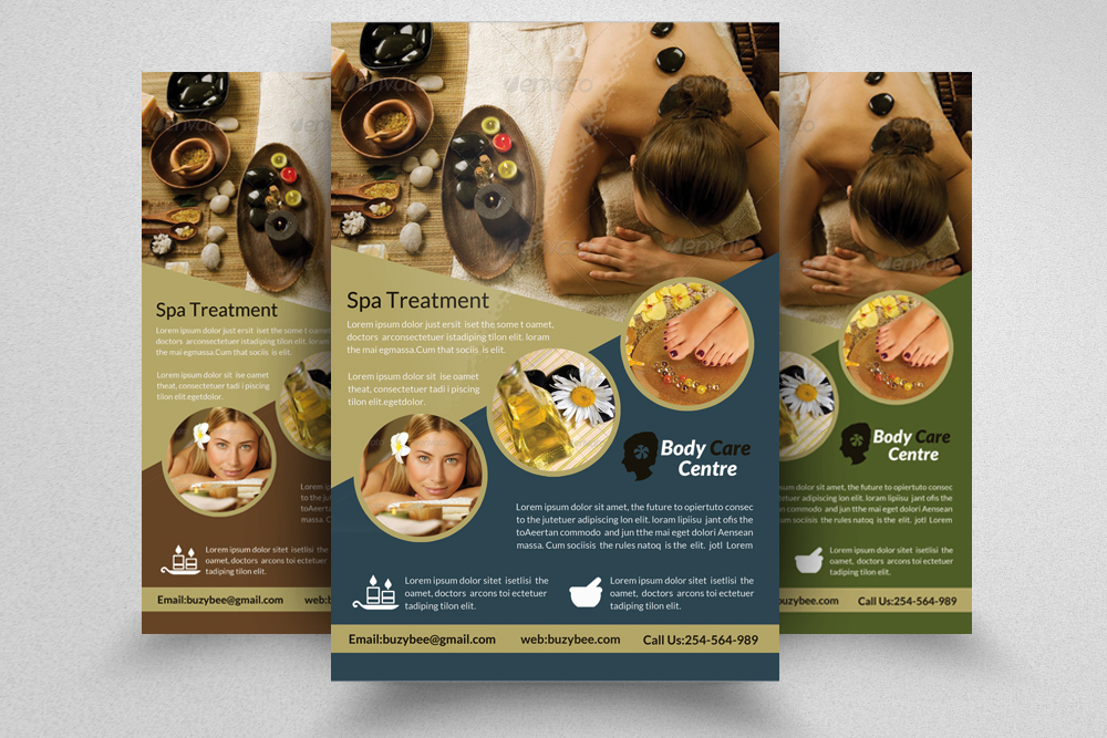 6 Beauty Spa & massage Centre Flyers Bundle example image 4