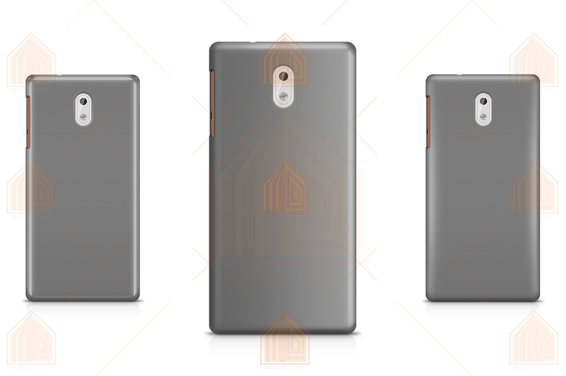Nokia 3 3D Case Design Mockup Back View example image 4