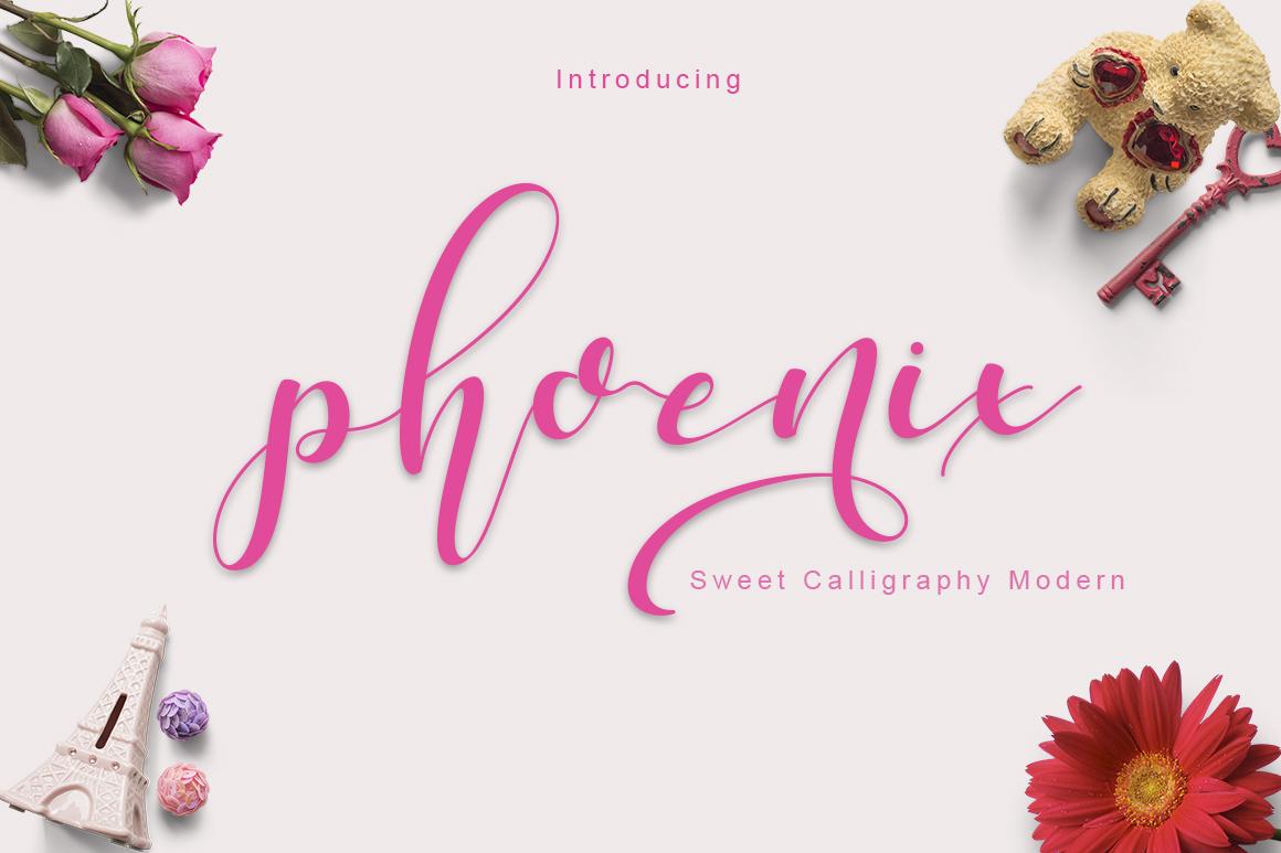 phoenix sweet calligraphy modern example image 1