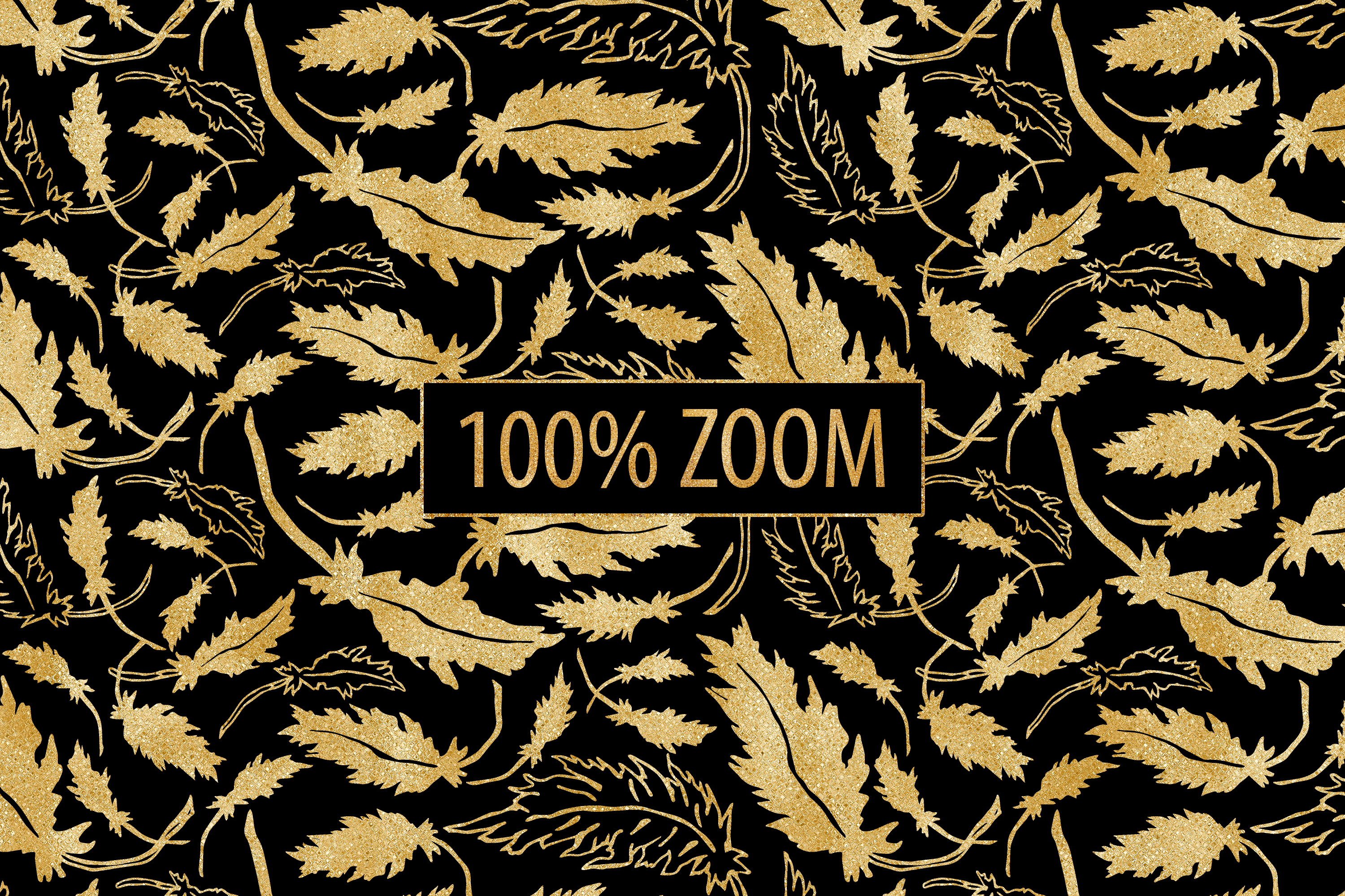 Black and Gold Seamless Papers - Damask & Geometric Patterns example image 9