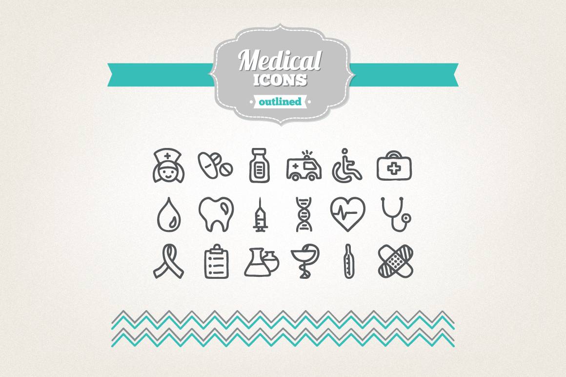 Hand Drawn Medical Icons example image 1