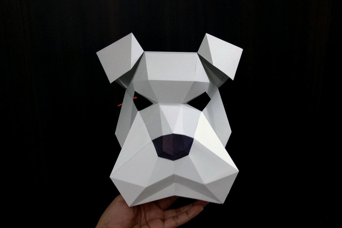 DIY Schnauzer Mask - 3d papercraft example image 4