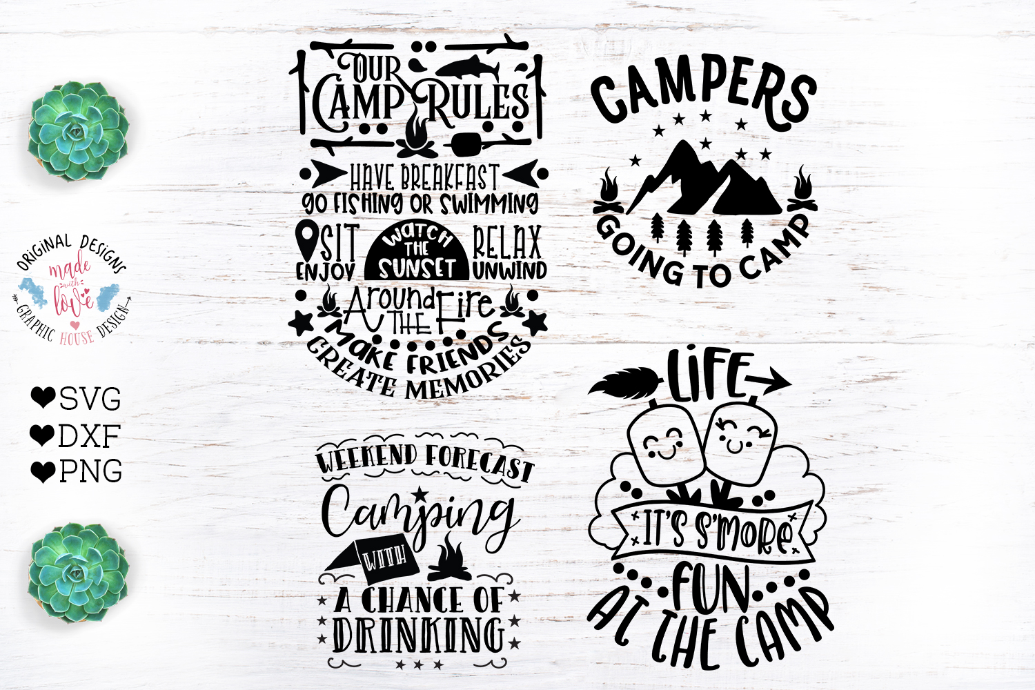 Camp Quotes Bundle - Camping Cut Files example image 3