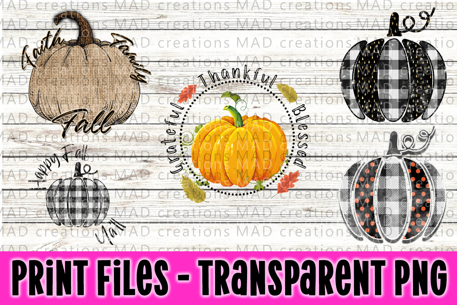 Pumpkin Bundle - Fall Bundle - Print Files example image 1