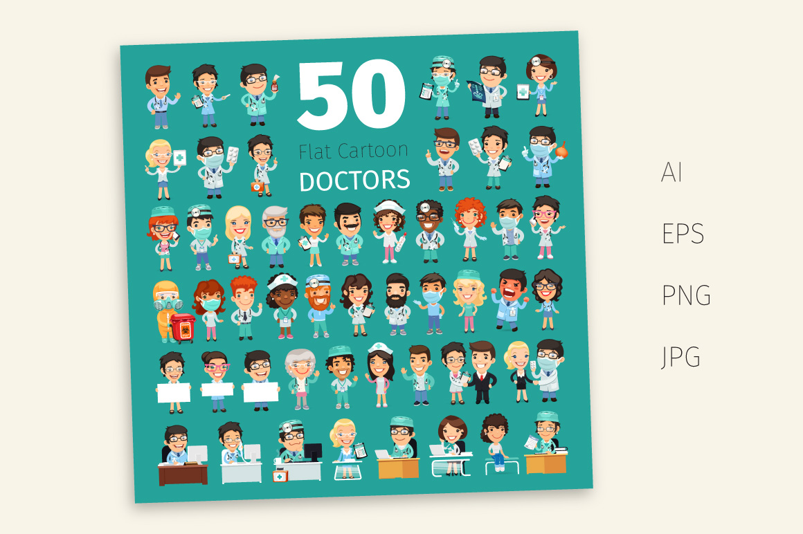 Cartoon Doctors Big Collection example image 3