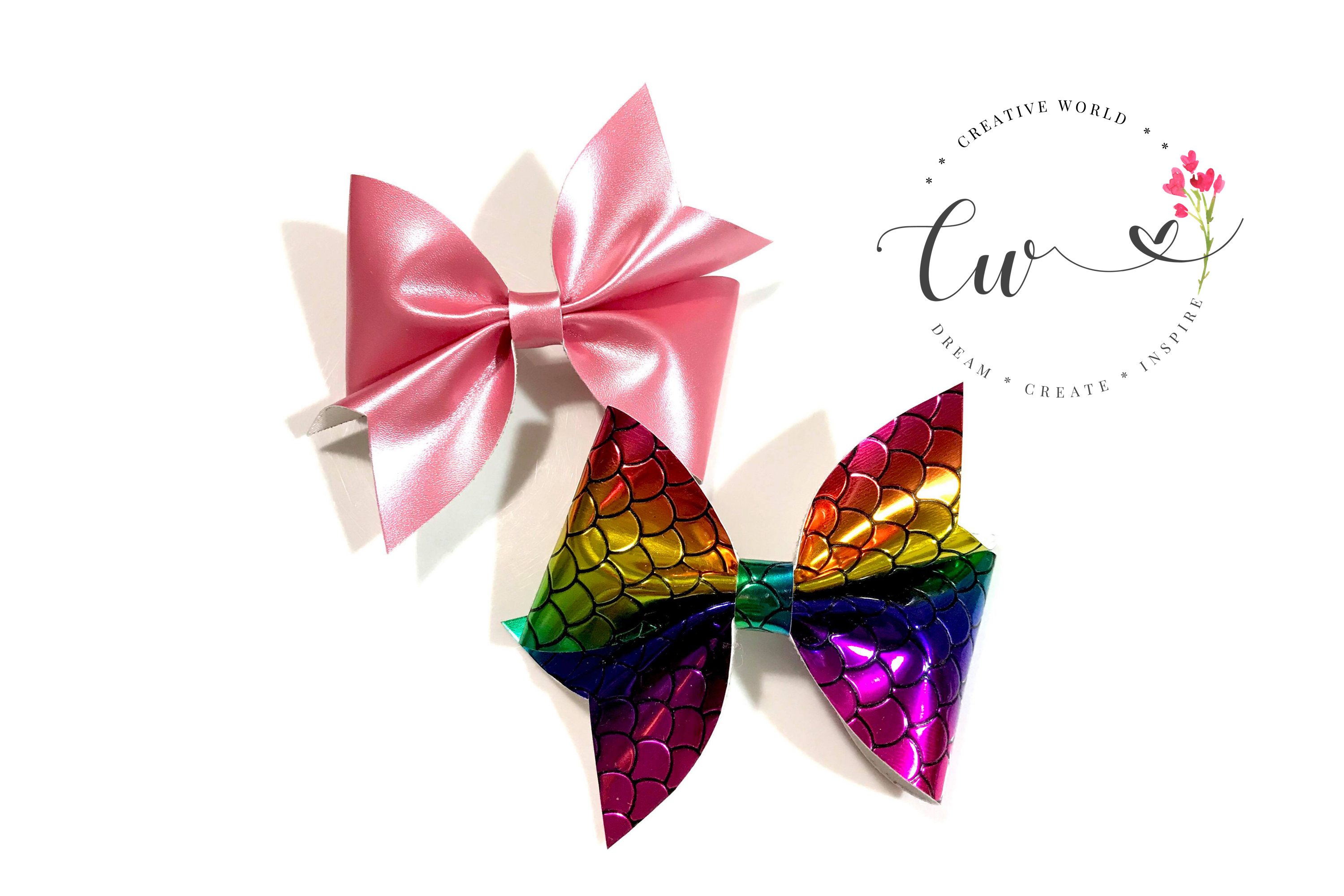 Lovely Classic Pinch Hair Bow Digital Template example image 2