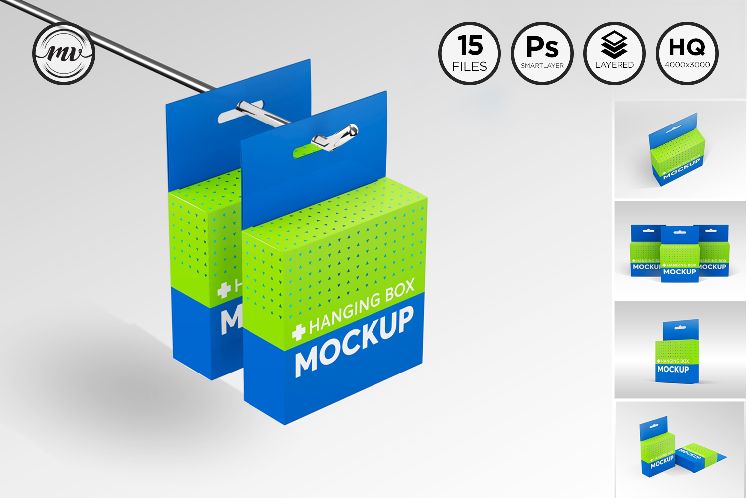 Flat Square Box with Hanger Mockup example image 1