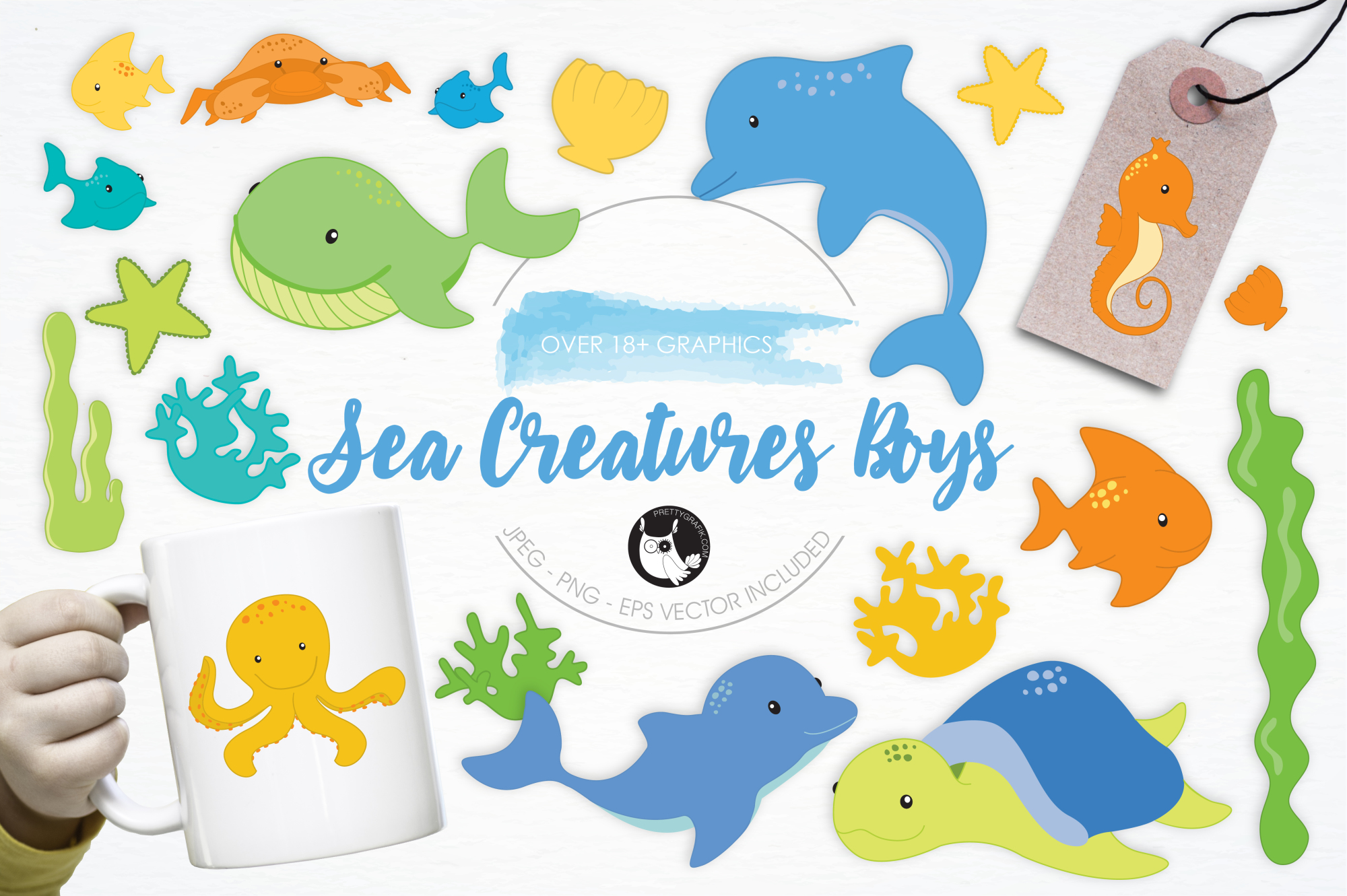 Sea Creatures Boys graphics and illustrations example image 1