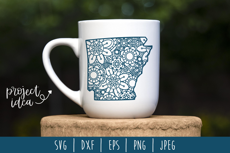 State Mandala Zentangle Bundle Set of 50 - USA SVG example image 27