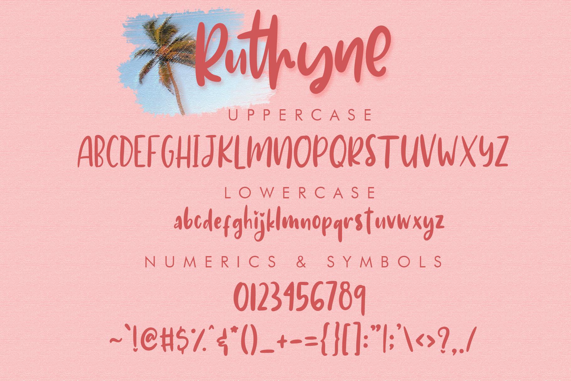 Ruthyne - Handwritten Font example image 9