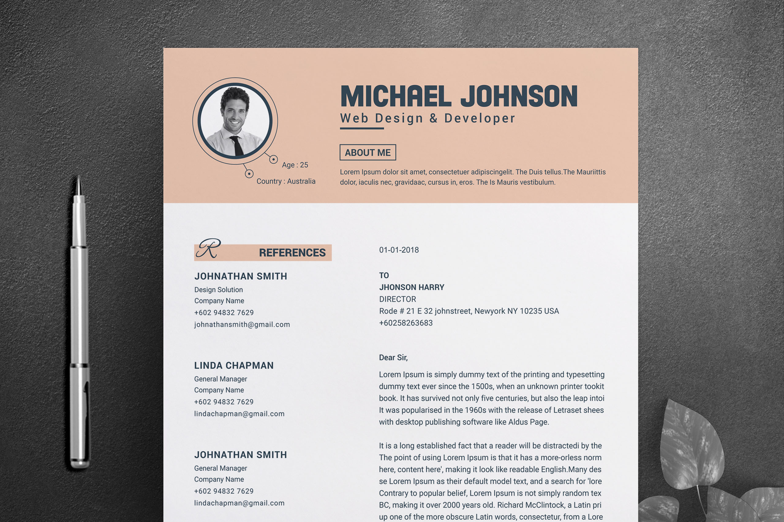 Resume Template for Word & Pages example image 4
