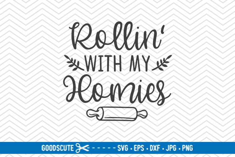 Rollin With My Homies - SVG DXF JPG PNG EPS example image 1