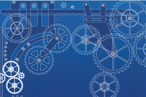 Set of vector gears example image 3