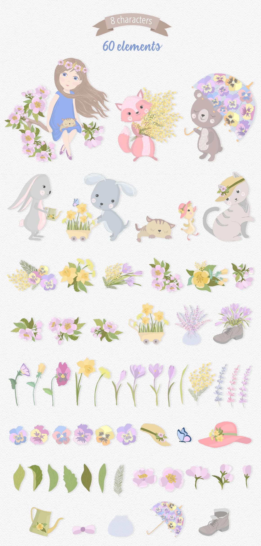 Hello Spring Illustration Set example image 6