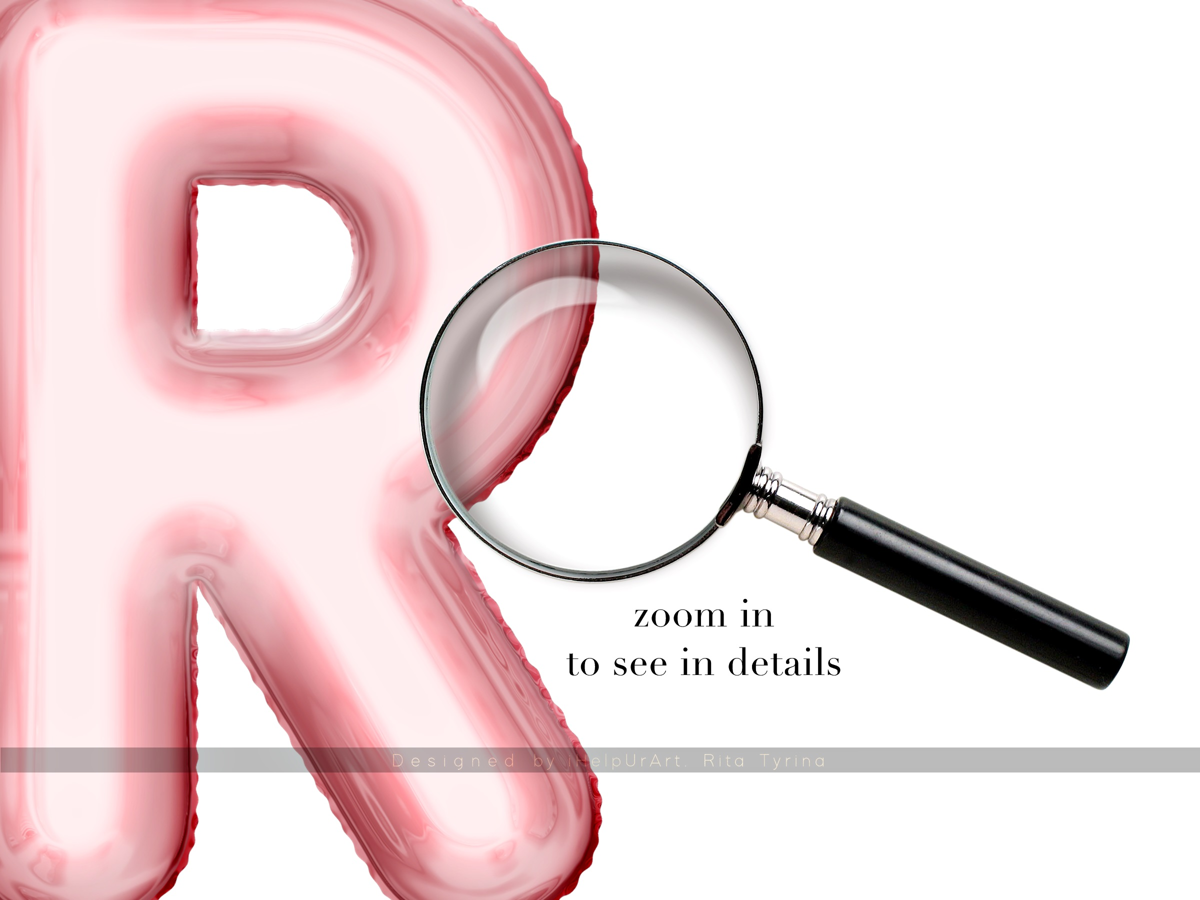 Rose Gold Foil Balloons Letters Clipart example image 3