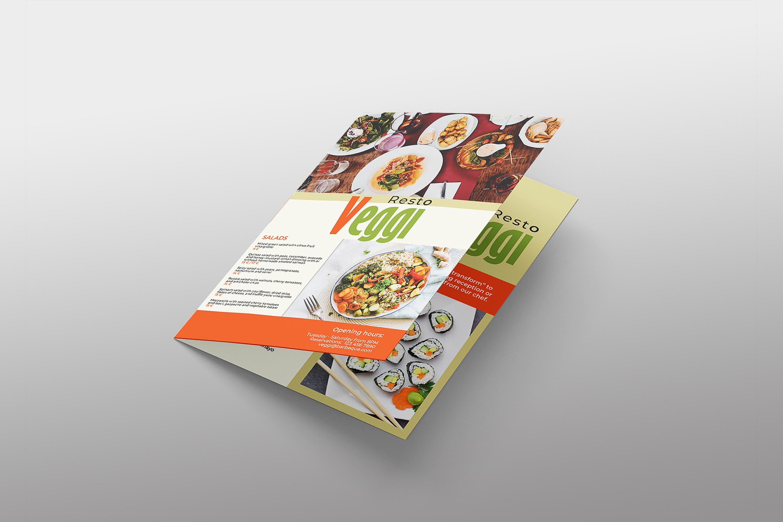 Vegan Menu Bifold Brochure A3 - AI/PSD Templates example image 10
