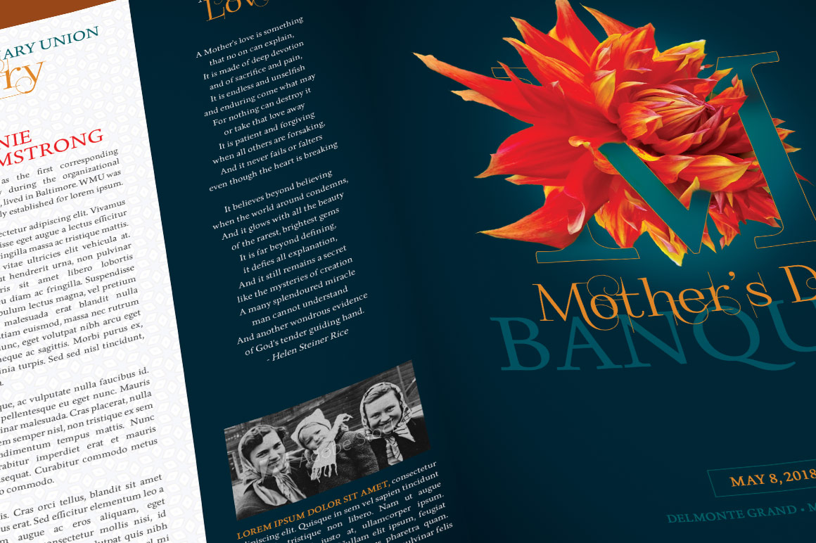 Mothers Day Banquet Brochure example image 5