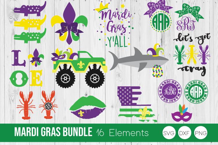 Mardi Gras Bundle SVG Cut Files example image 1
