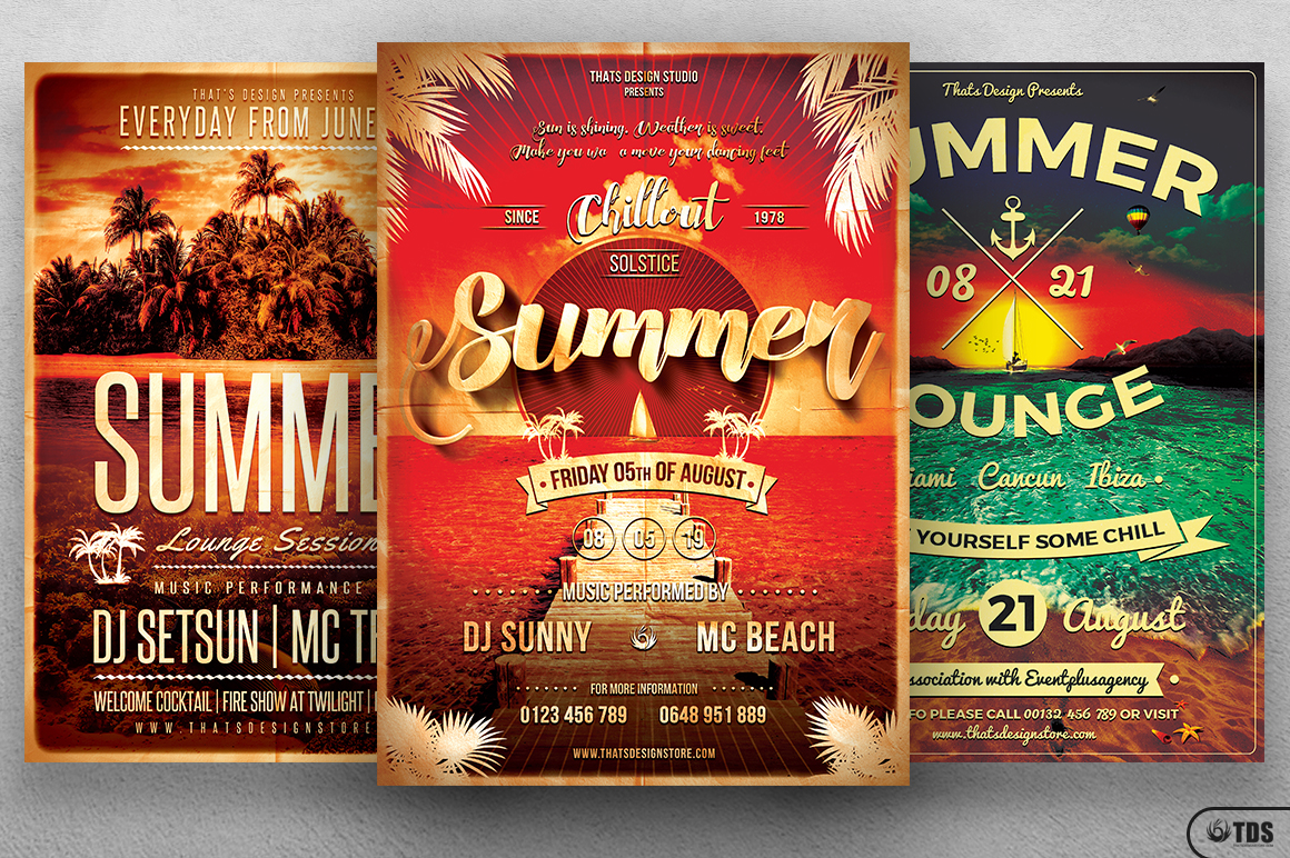 Summer Lounge Flyer Bundle example image 1