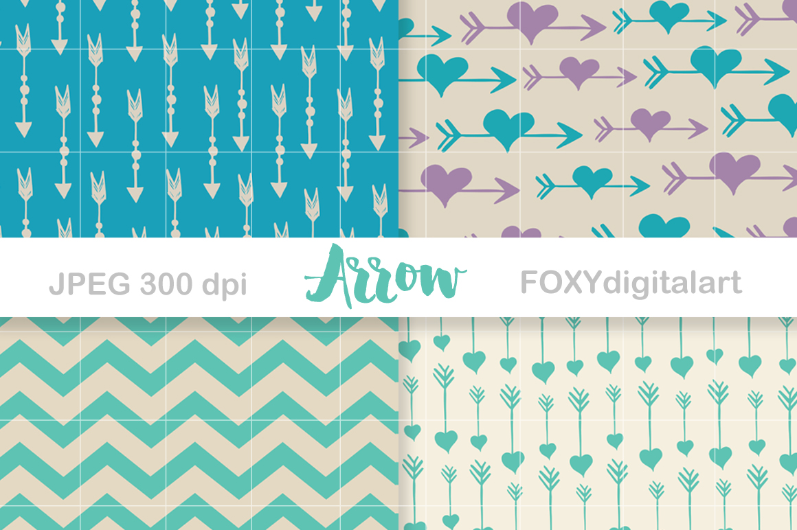 Digital paper arrow aztec tribal native bohemian hipster example image 3