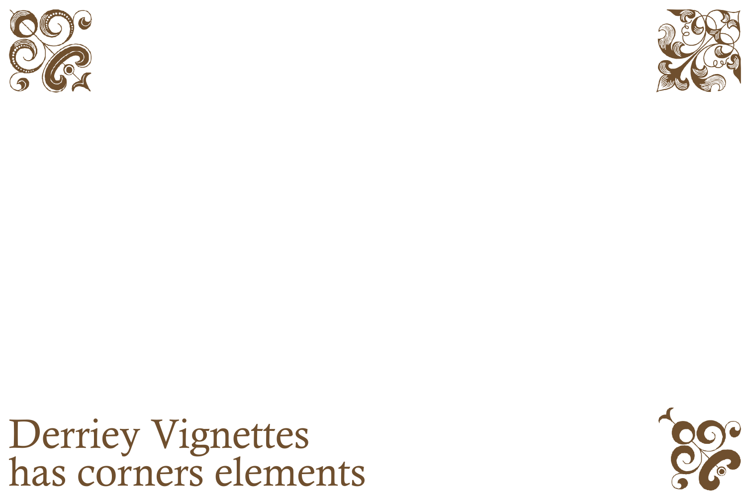 Derriey Vignettes Family Pack (5 fonts) example image 3