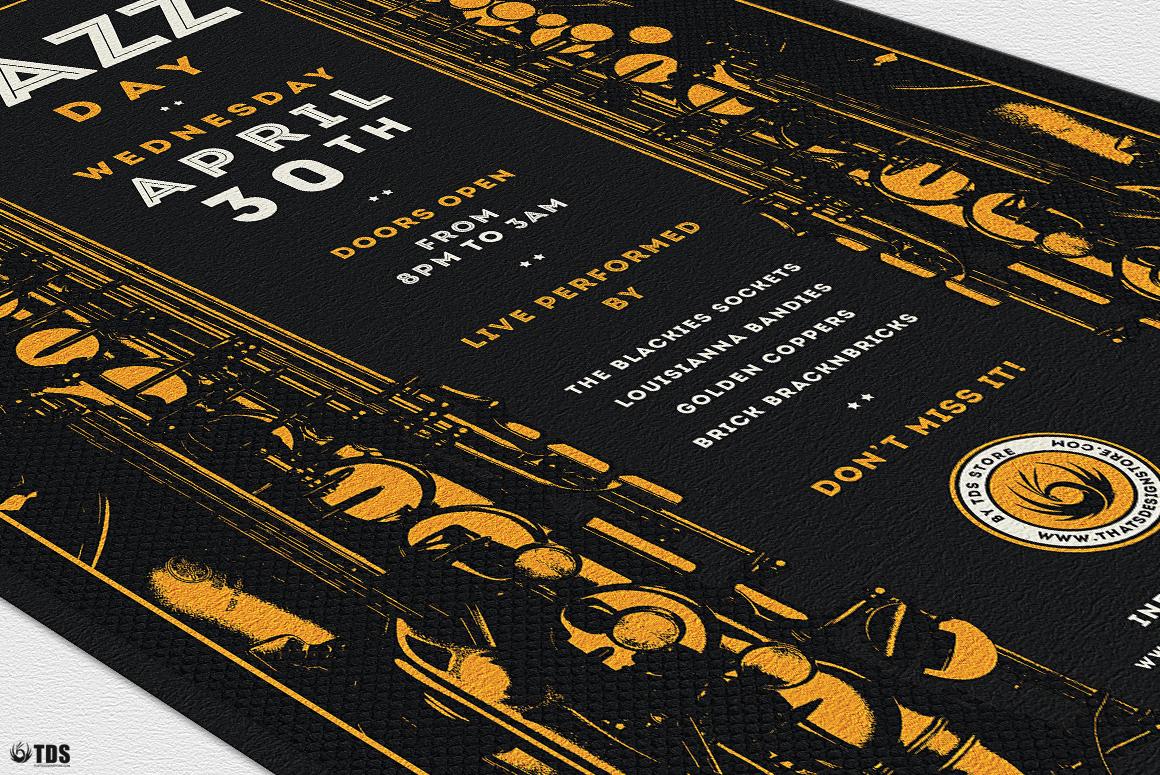 Jazz Day Flyer Bundle example image 9