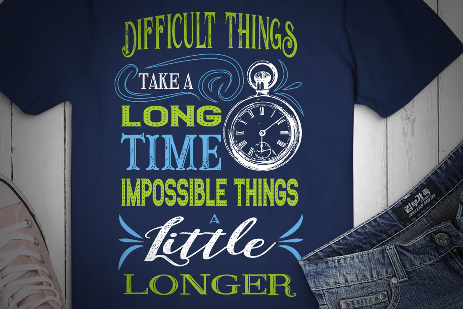 Difficult Things Take a Long Time... SVG Design example image 2