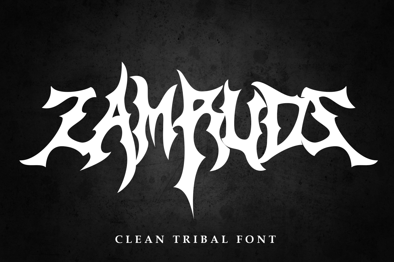 Zamruds - Tribal Font example image 1