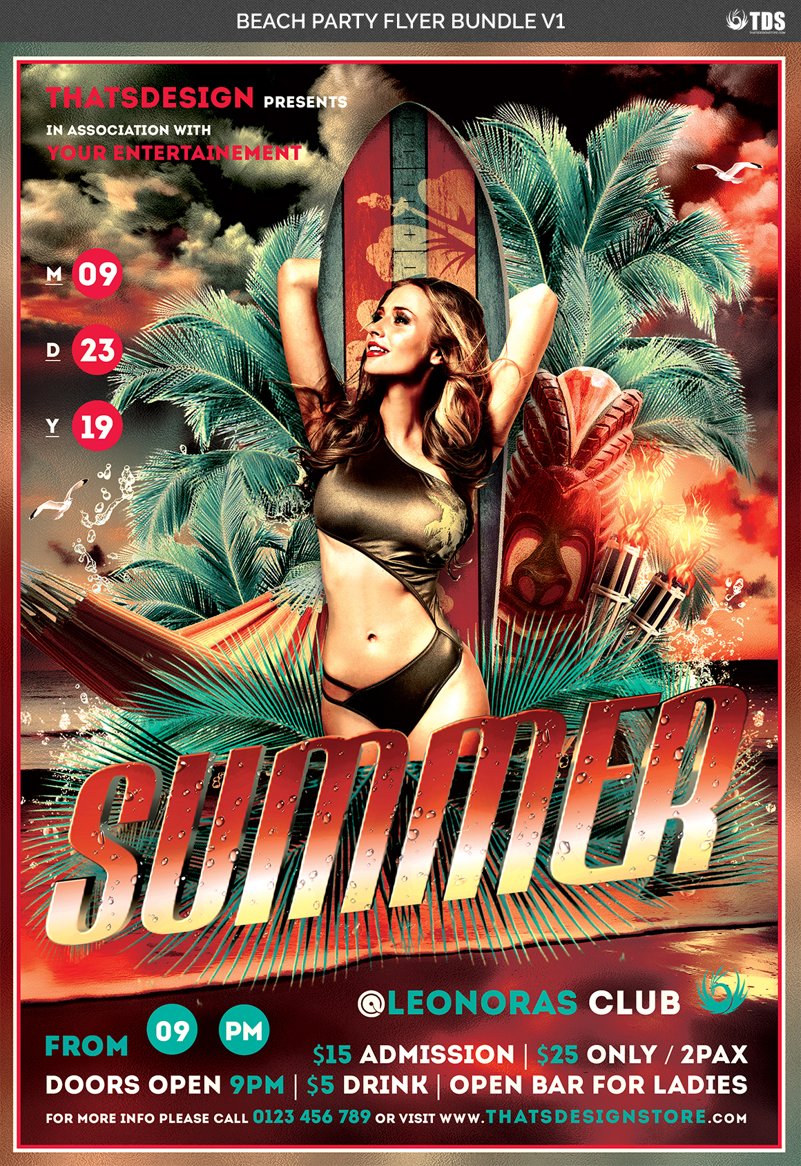 Beach Party Flyer Bundle V1 example image 5