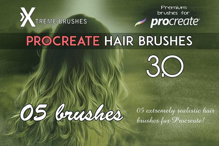 Procreate Hair Brushes 3.0 example image 1
