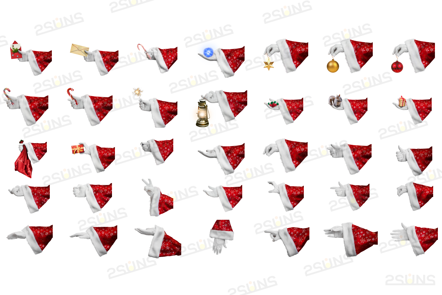 Christmas overlays Santa Claus Hand clipart png Photoshop example image 2