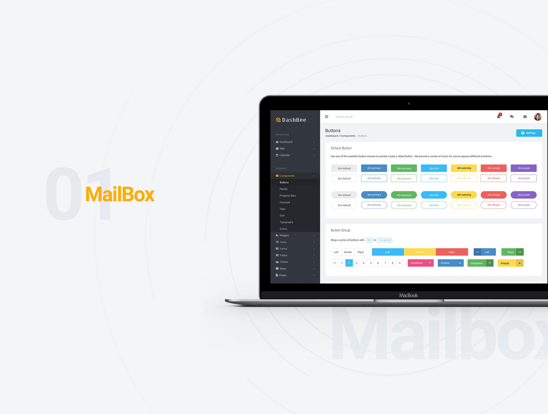 DashBee - Dashboard UI Kit example image 2