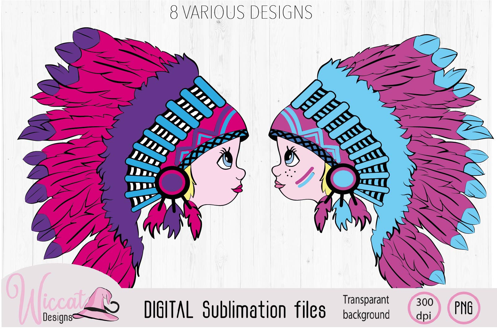 Girl with Headdress sublimation file example image 3