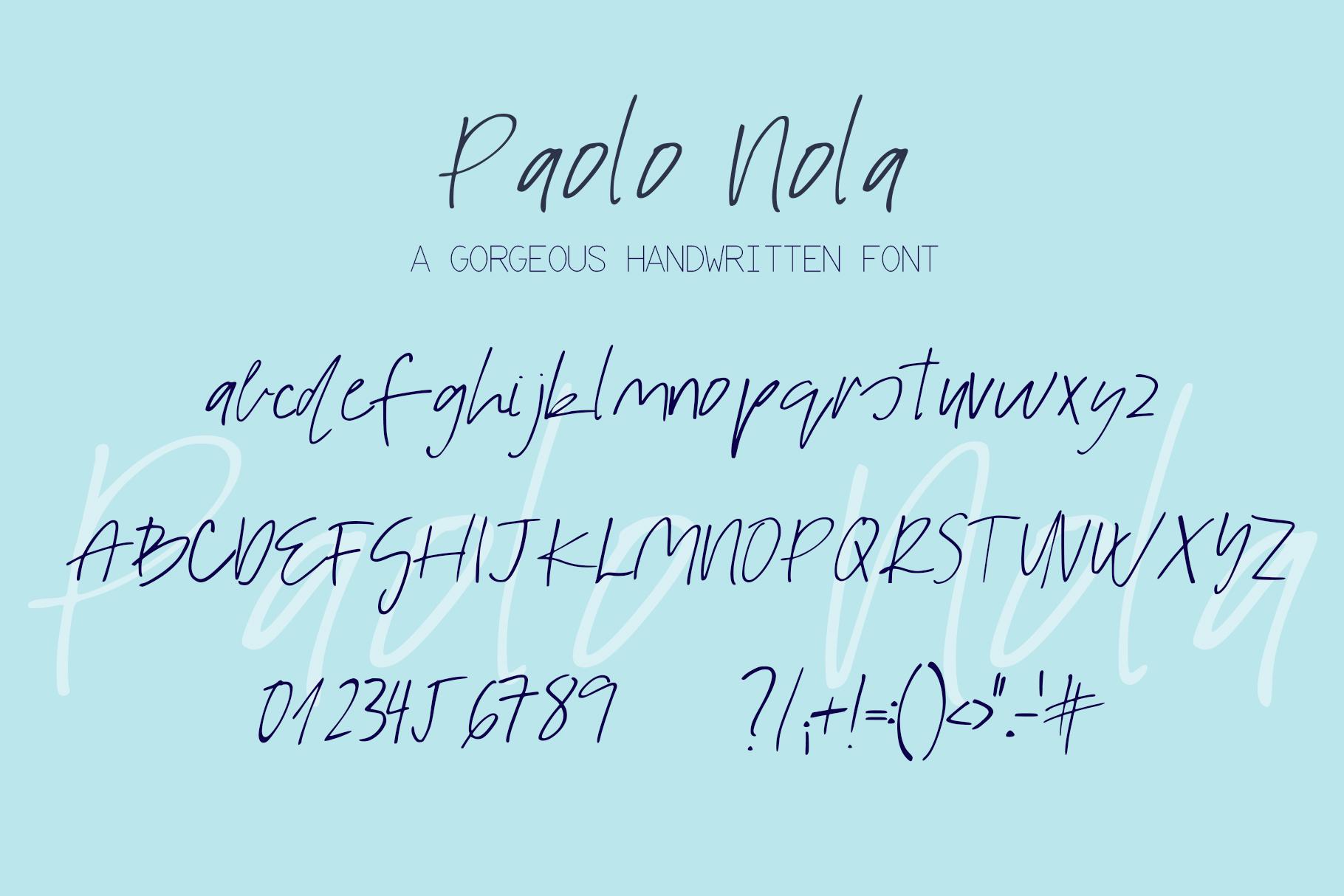Paolo Nola Font example image 8