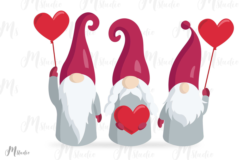 Valentine Gnomes Svg . V2 example image 2