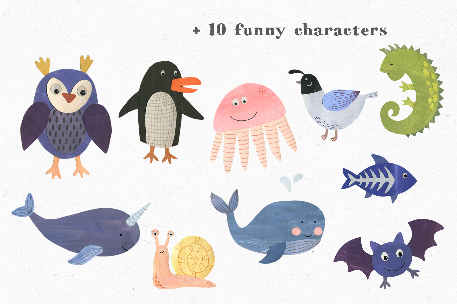 Papercut Animals Clipart example image 6