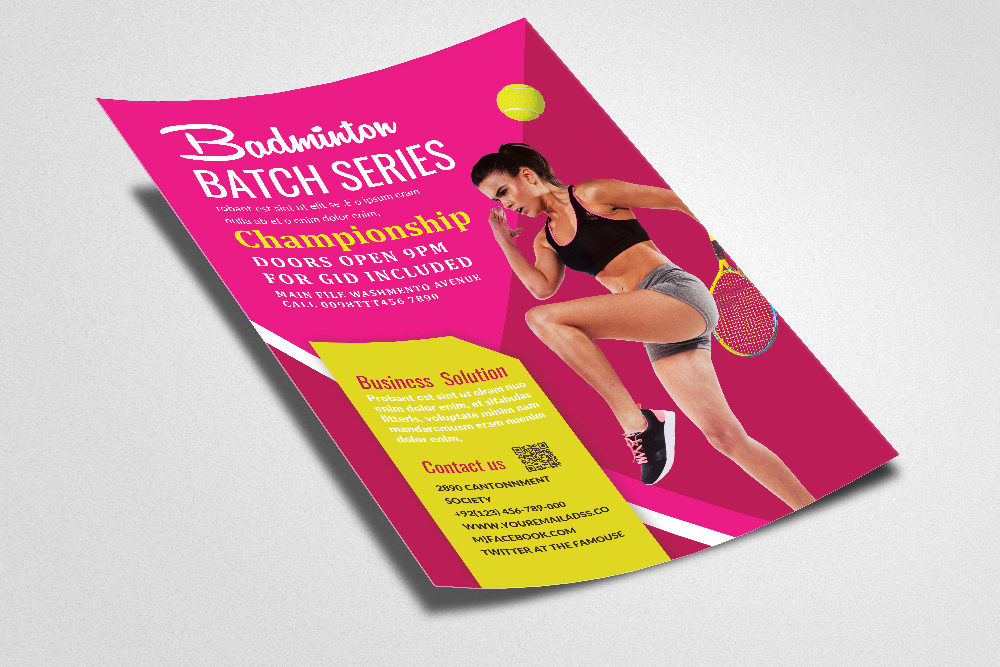 Badminton Competition Flyer/Poster example image 2