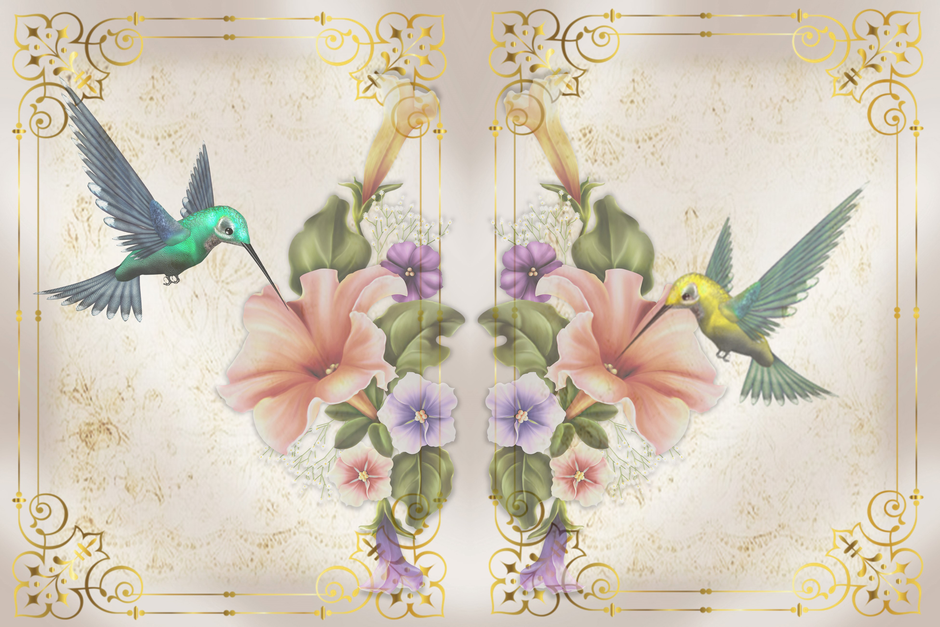 Hummingbird Journaling Kit Backgrounds Commercial Use example image 5