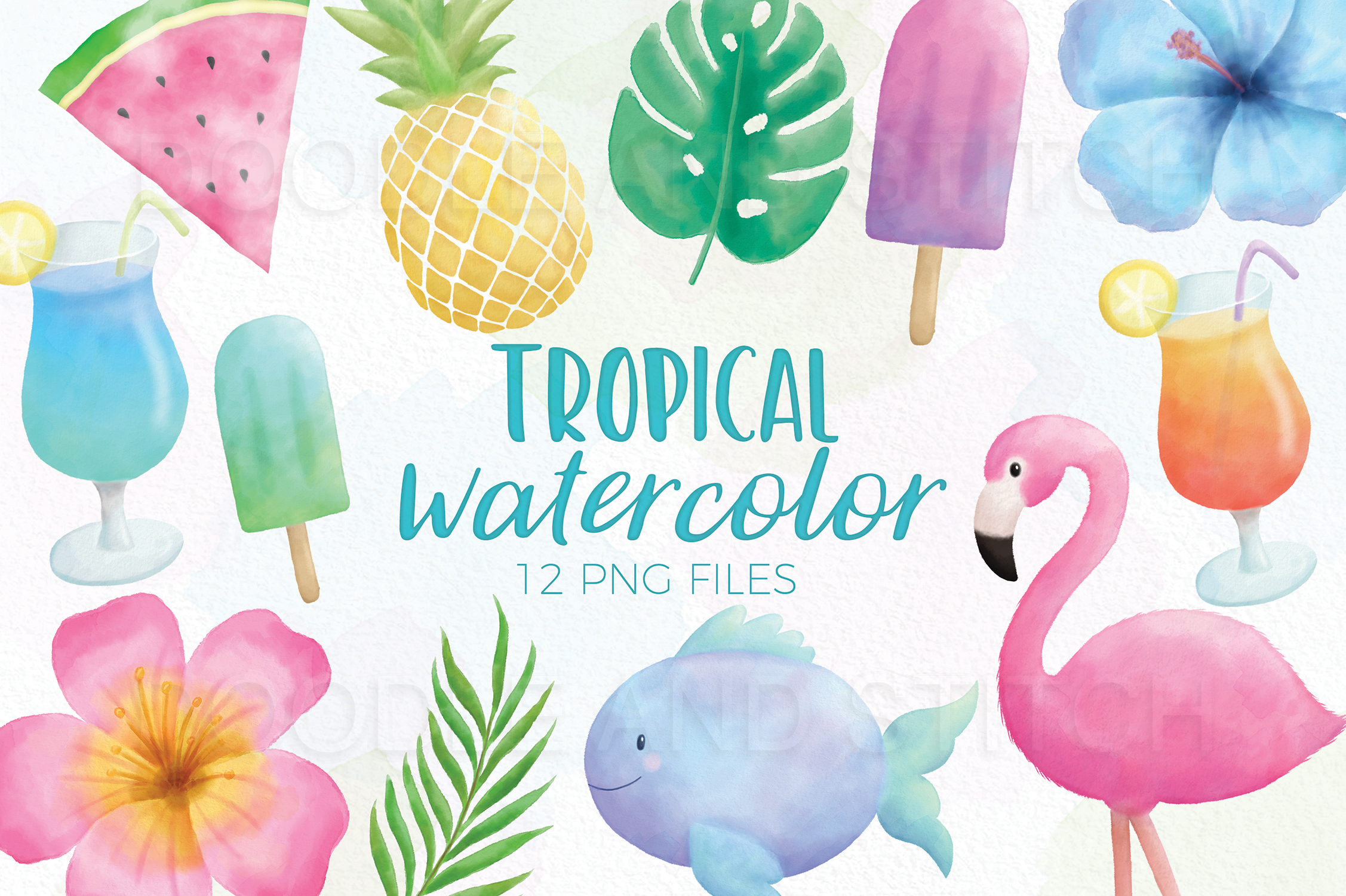 Tropical Watercolor Illustrations example image 1