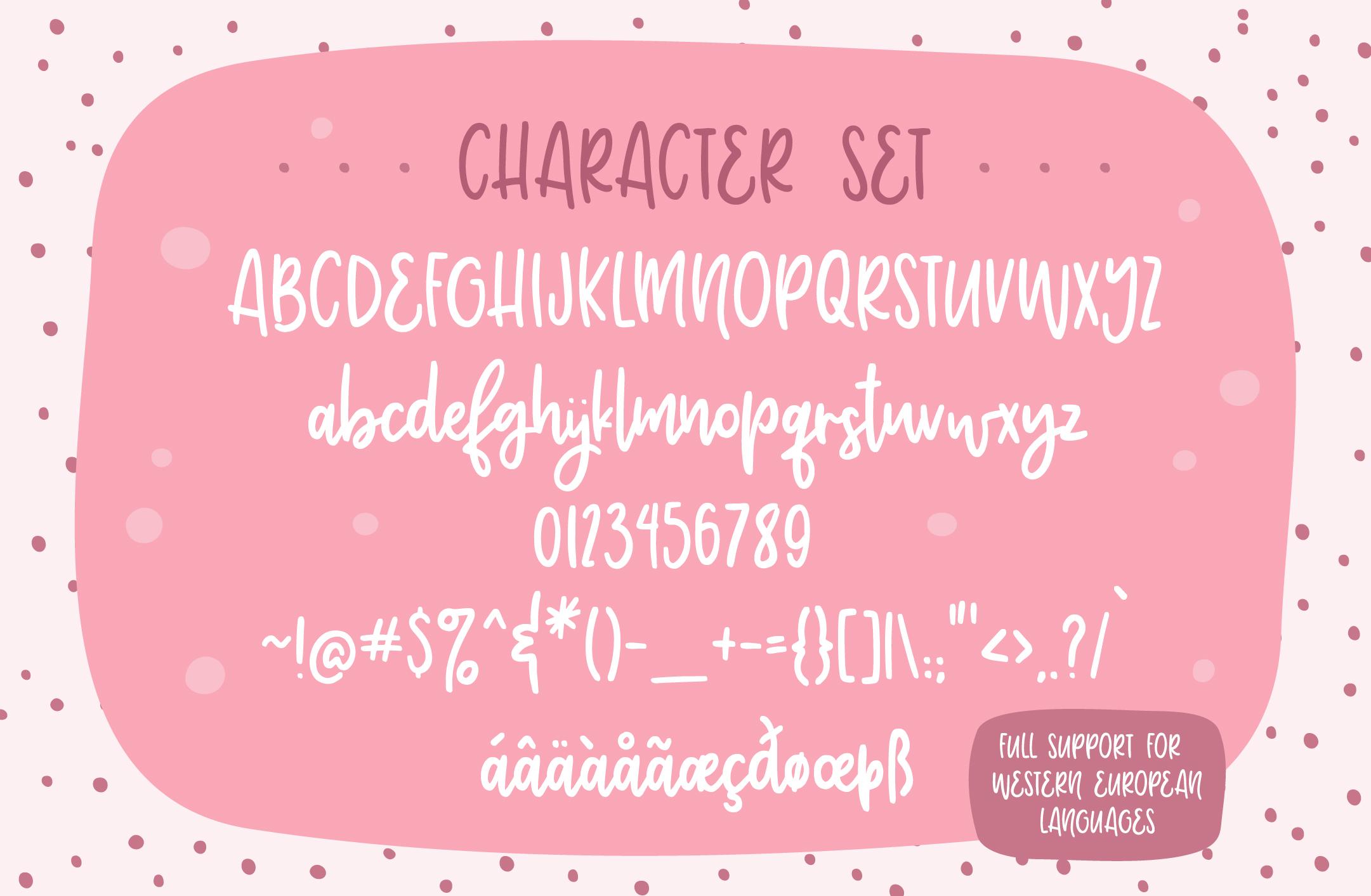 Adorbs, a monoline script font example image 5