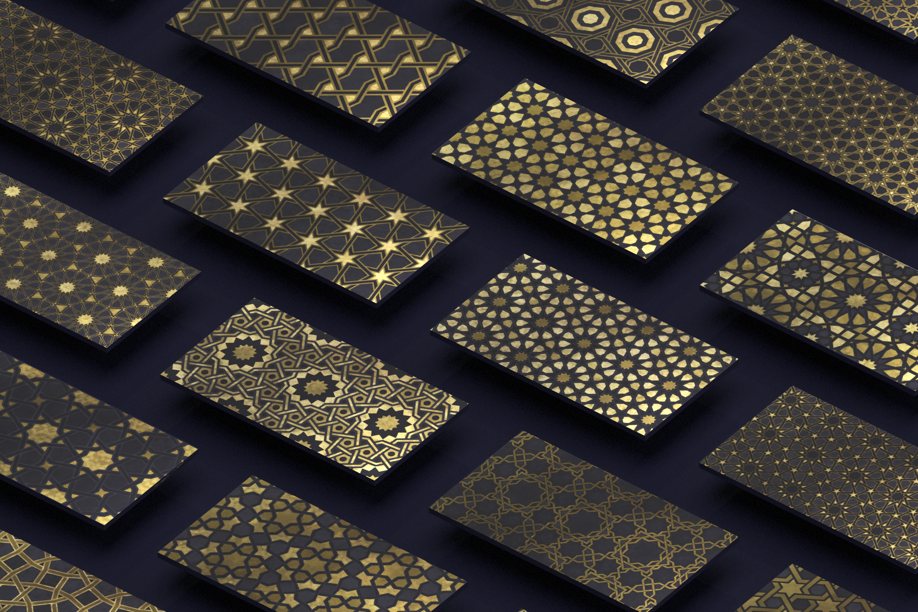 Luxury Patterns - 250 geometric backgrounds example image 18