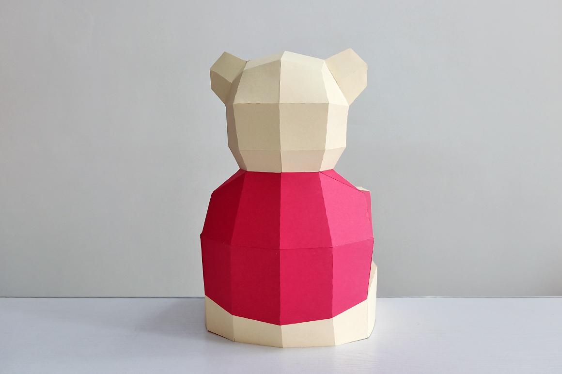 DIY Teddy bear,Papercraft Teddy bear,Paper Bear,Svg files example image 7