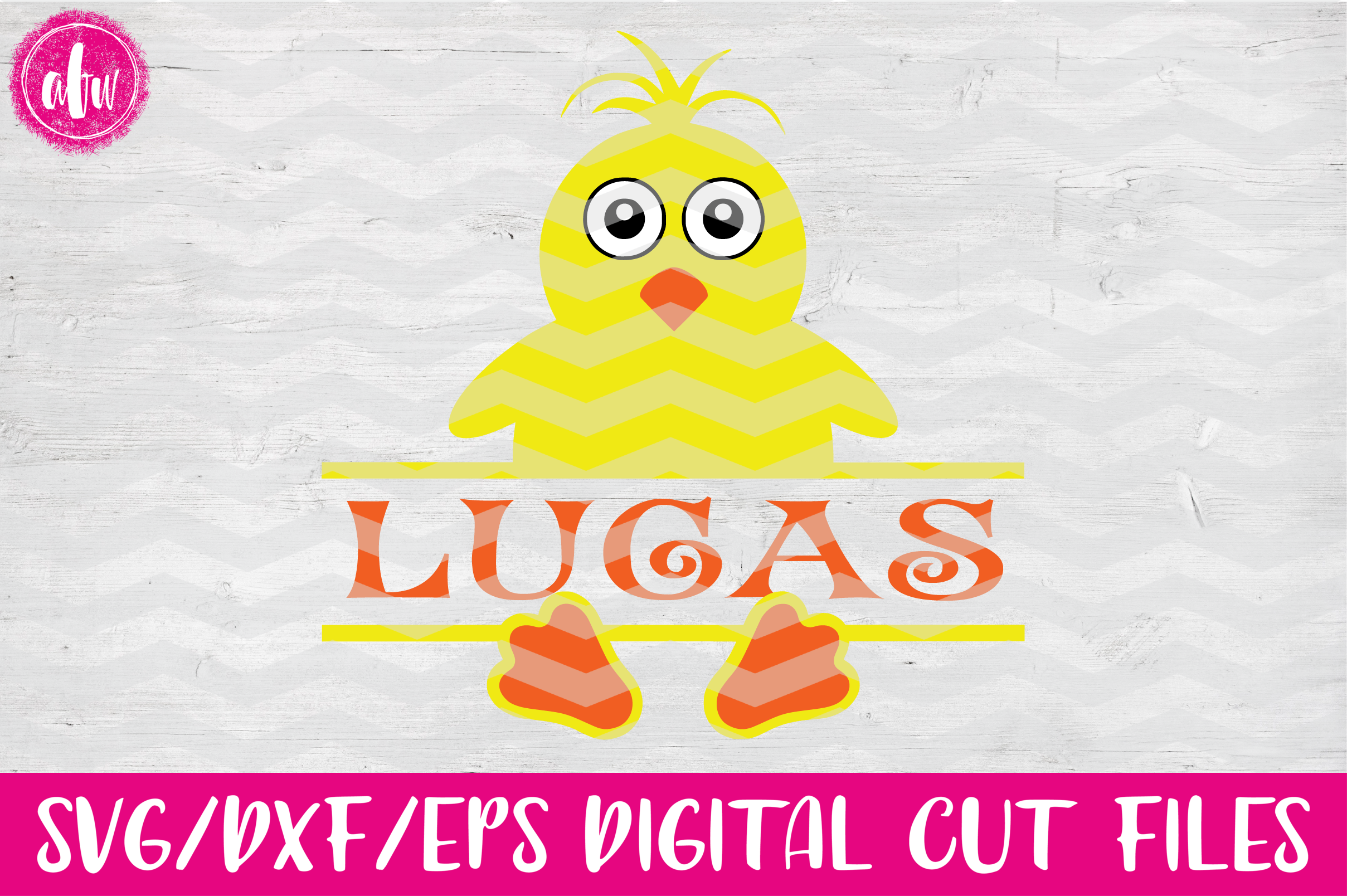 Split Chick- SVG, DXF, EPS Cut File example image 1