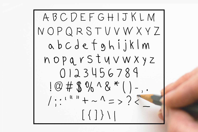 Benjammin' - Kid's Handwritten Font example image 2