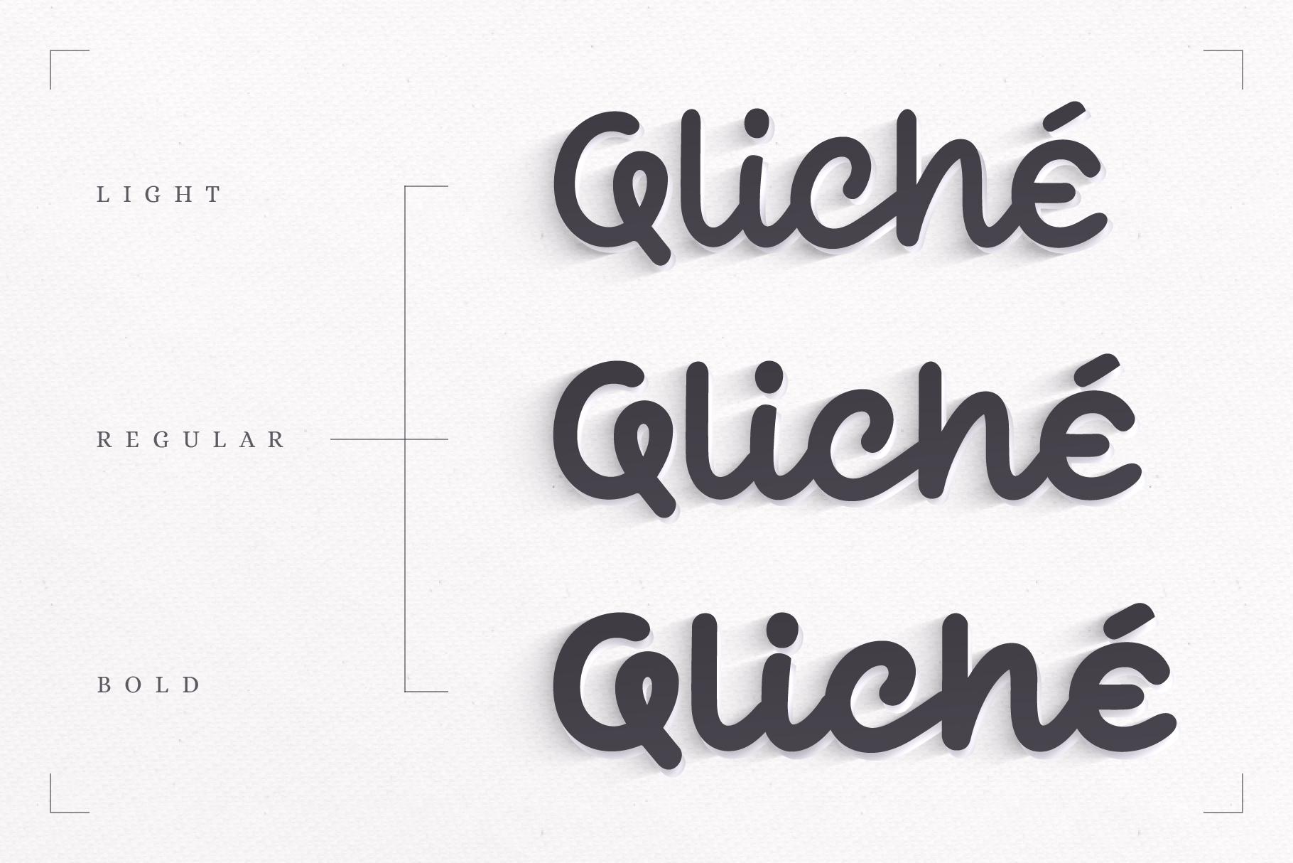 Qliché Typeface example image 2